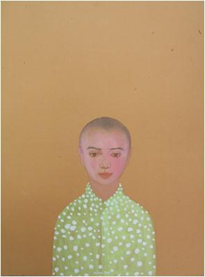 Nguyen Minh Thanh; Welcome myself to the world, 24 x 32 in.; Watercolour on Dzo paper; 2012