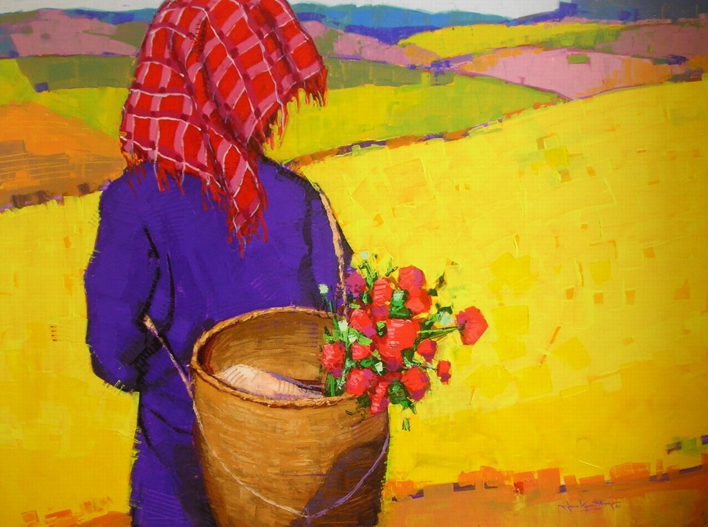 Than Kyaw Htay; The Wonderland (5); Acrylic on Canvas, 2010; 49 x 37 in.;